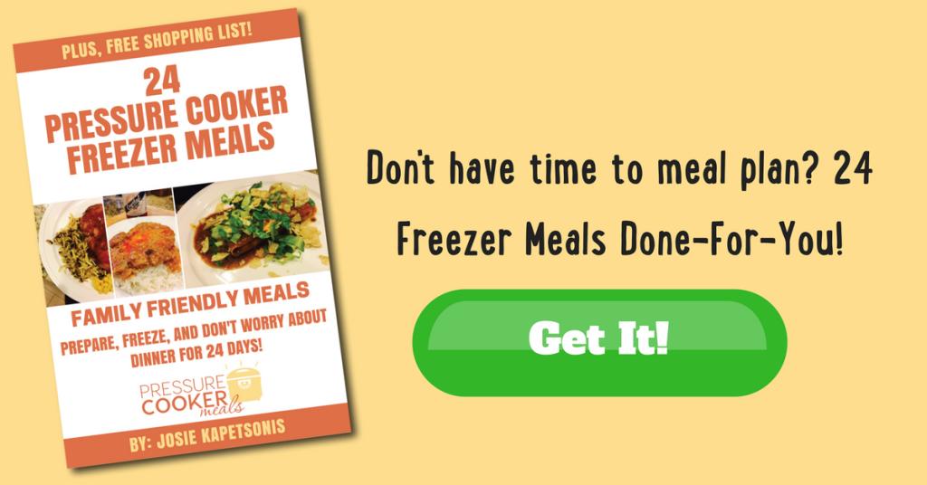 24 Pressure Cooker Freezer Meals