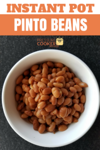 Instant Pot Pinto Beans are the perfect easy way to make your favorite dry bean fast! This recipe is done in an hour and a great addition to any meal!