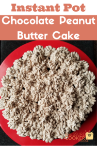Chocolate Peanut Butter Cake is a deliciously moist cake that will be a new favorite! Ready in your Instant Pot in just 30 minutes this will be a favorite!