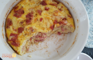 Our Instant Pot Breakfast Casserole with Ham, Egg, and Cheese is a great hearty meal to start your day! This is a perfect recipe for leftover ham!