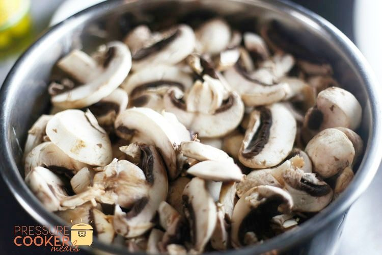 mushrooms on roast in instant pot for mississippi pot roast